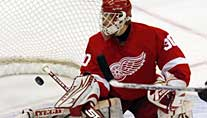 Der Keeper der Detroit Red Wings: Chris Osgood (Foto: Reuters)