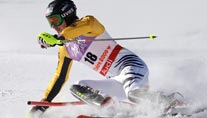Felix Neureuther beim WM-Slalom (Foto: AP)