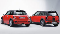 Mini John Cooper Works und die Kombiversion Clubman. (Foto: BMW)