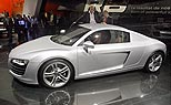 Der Audi R8 in Paris (Foto: dpa)