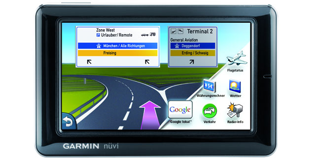 garmin n vi 1690 navigation mit live infos aus dem internet. Black Bedroom Furniture Sets. Home Design Ideas