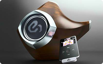 ipod lautsprecher im alien look speaker design von erick sakal. Black Bedroom Furniture Sets. Home Design Ideas