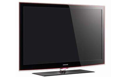 lcd tv internet auf dem fernsehschirm. Black Bedroom Furniture Sets. Home Design Ideas
