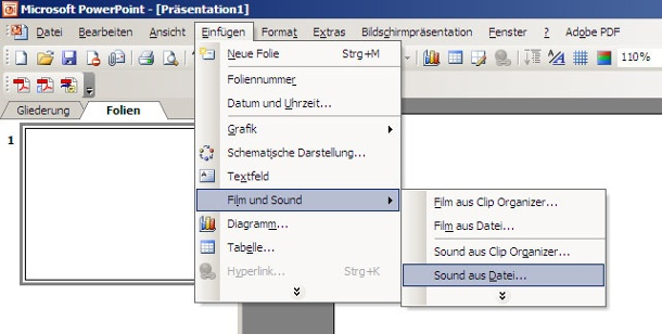 Musik und Video in PowerPoint. Einbinden von Multimediadaten in PowerPoint