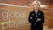 "Sabine Christiansen als Moderatorin von ""Global Players"" (Foto: dpa)"