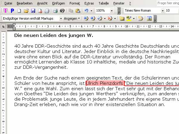 Microsoft Word2003 (Screenshot: T-Online)