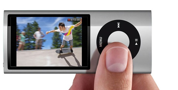 Apple iPod Nano (5. Generation) - Multimedia-/MP3-Player im Test. Mit Videokamera: der neue iPod Nano (Foto: pcwelt)