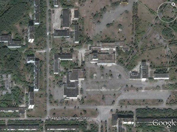 Prypjat, Ukraine (Foto: Google Earth)