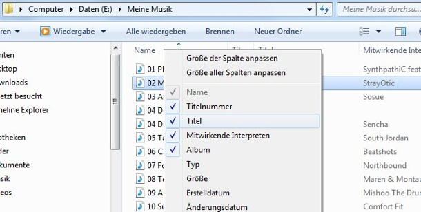 ID3-Informationen aus MP3s für den Windows-Explorer auslesen. ID3-Informationen angezeigt in den Dateidetails des Windows-Explorers