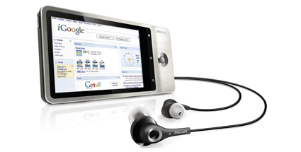 mp3 player philips gogear connect gegen ipod touch. Black Bedroom Furniture Sets. Home Design Ideas
