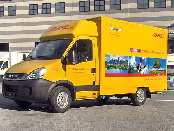 elektrisch angetrieben wird auch der iveco electric daily die post tochter dhl will das. Black Bedroom Furniture Sets. Home Design Ideas