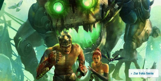 """Enslaved - Odyssey to the West"": Muskelprotz trifft Mauerblümchen. Enslaved - Odyssey to the West von Namco-Bandai für Xbox 360 und PS3"