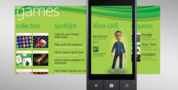 Mobile Gaming: Windows Phone 7 und Kinect spielen zusammen. Windows Phone 7 (Bild: Microsoft)