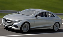 Mercedes F800: Unterwegs im Hightech-Mobil. Mercedes F800 (Foto: Daimler)