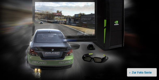Hardwaretest Nvidia: 3D Vision Brille Spielezubehör für PC. Need for Speed: Racing-Action in 3D mit Nvidias Vision-Brille (Bild: EA, Nvidia)