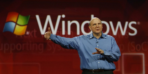 Windows 8: Microsoft zeigt Prototypen des neuen Windows. Neues Windows: Microsoft-Chef Steve Ballmer auf der CES 2011 in Las Vegas (Foto: dpa).