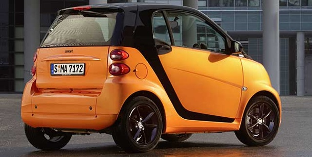 Smart-Sondermodell in knalligem Orange. Sondermodell Smart Nightorange (Foto: Smart)