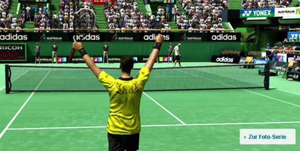 "Preview ""Virtua Tennis 4"": Schmetterball verwandelt. Virtua Tennis 4 (Quelle: Sega)"