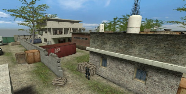 "Ego-Shooter thematisieren Bin Ladens Tod. Counter-Strike-Map ""fy_abbottabad"" (Bild: Fletch)"