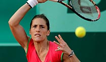 French Open: Petkovic und Mayer in Runde zwei. Andrea Petkovic ist in Paris voll gefordert. (Foto: dpa)