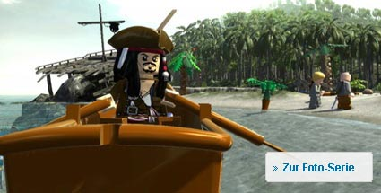 "Test ""Lego Pirates of the Caribbean"": Angriff der Bauklötzchen-Piraten. Lego Fluch der Karibik (Quelle: Disney Interactive)"