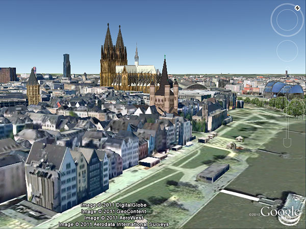 Google Earth zeigt Köln in 3D (Foto: Google Earth)