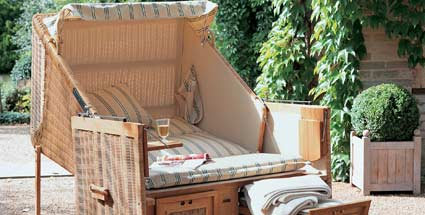 strandkorb bequemer eyecatcher f r jeden garten. Black Bedroom Furniture Sets. Home Design Ideas