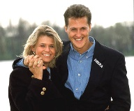 Im August 1995 heiratet Schumacher seine Freundin Corinna. (Quelle: imago images)