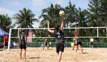 Behindertensport: Beachvolleyballer verpassen Turniersieg. Deutsche Para-Beachvolleyballer beim Masters in Malaysia. (Foto: dbs-volleyball.de)