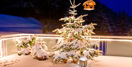 weihnachtsdekoration f r terrasse und balkon. Black Bedroom Furniture Sets. Home Design Ideas