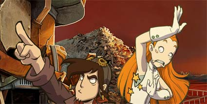 Deponia: Abenteuer mit Tiefgang. Deponia (Quelle: Daedalic Entertainment)