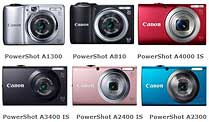 Canon Powershot A-Serie: Neue Mini-Canons. Canon Powershot A Serie: Neue Canon-Knipsen für Einsteiger (Quelle: Hersteller)