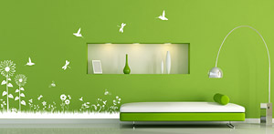 wandsticker oder wandtattoo die unterschiede. Black Bedroom Furniture Sets. Home Design Ideas