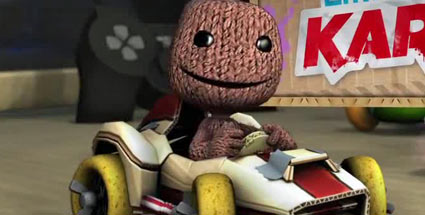 Little Big Planet Karting: Der Sackboy gibt den Vettel. Little Big Planet Karting (Quelle: Sony)