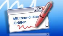 Office Outlook: E-Mail mit Signatur versehen. E-Mail mit Signatur in Outlook anlegen. (Quelle: t-online.de)
