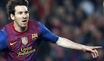 Barcelona - Mailand 3:1 - Lionel Messi bricht Champions-League-Rekord. Rekordschütze in der Champions League: Barcelonas Lionel Messi. (Quelle: Reuters)