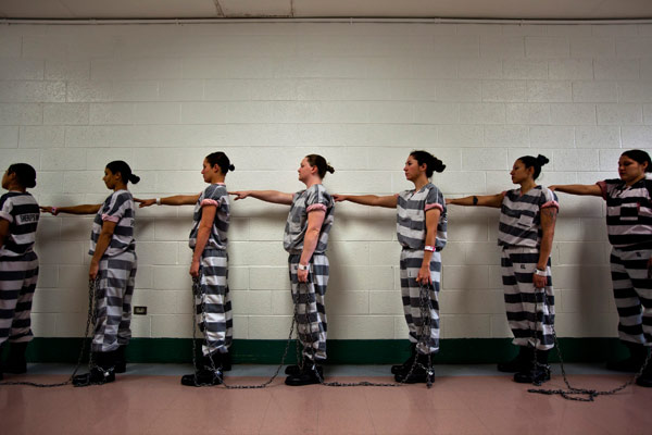Have inmate in handcuffs naked are