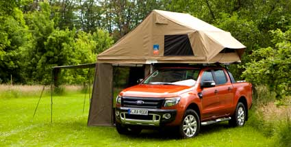 ford ranger pick up wird zum camping mobil