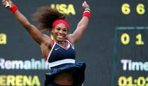 Olympia: Williams zerstört Scharapowa. Serena Williams gewinnt die Goldmedaille in London.  (Quelle: Reuters)