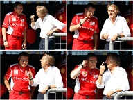 Ferrari-Boss Luca di Montezemolo (re.) in inniger Diskussion mit Teamchef Stefano Domenicali. Bei den Roten gibt es viel Gesprächsbedarf in Monza. (Quelle: Reuters)