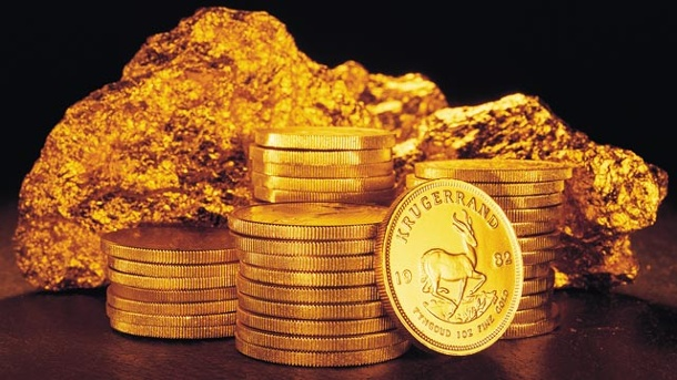 Gold hat Preiskorrektur beendet - weiterer Aufschwung erwartet . Krügerrand-Münzen und Nugget: Gold nach Preisrückgang kaufenswert?  (Quelle: Thinkstock by Getty-Images)