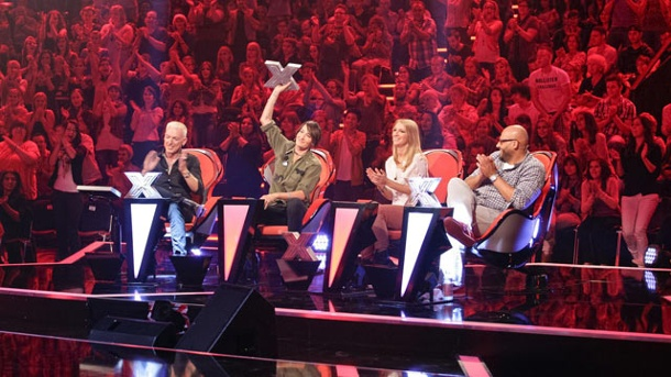 "Vox stutzt ""X Factor""-Live-Shows. Die ""X Factor""-Jury. (Quelle: Vox)"