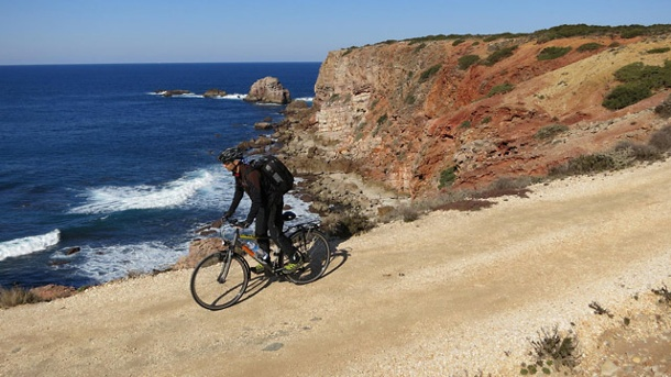 Portugal: Radfahren an der Algarve. Algarve in Portugal: Costa Vicentina. (Quelle: SRT /Armin Herb)