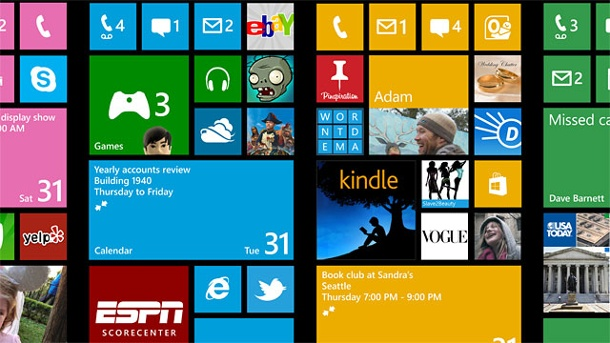 Windows Phone 8: Update fixt Reboot-Bug. Startbildschirme von Windows Phone 8 (Quelle: Microsoft)