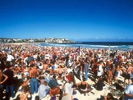 Weihnachten in Australien: Bondi Beach in Sydney (Quelle: imago images)