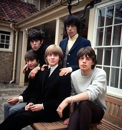 Die Besetzung der Rolling Stones 1964: Charlie Watts, Keith Richards, Brian Jones, Bill Wyman, Mick Jagger (v.l.).  (Quelle: dpa)