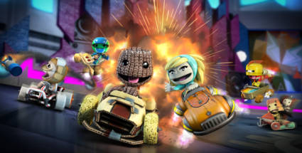 Little Big Planet Karting im Test: Sackboy in Marios Windschatten. Little Big Planet Karting (Quelle: Sony)