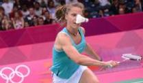 Badminton-Ass Schenk verpasst Finale in Hongkong. Juliane Schenk in Aktion.