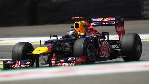 WM-Showdown: Vettel startet vor Alonso. Vettel verpasste in Brasilien die Pole. (Quelle: imago)