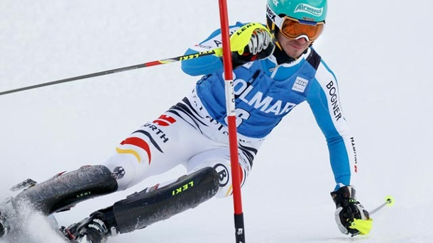 Ski alpin: Felix Neureuther Zweiter beim Slalom in Val d'Isere. Felix Neureuther in Aktion. (Quelle: Reuters)